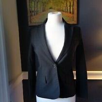 Theory Black Blazer Jacket One Button Size 2 Photo