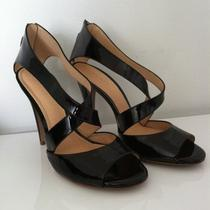 Theory Black Patent High Heel Sandals 39 8.5 9 Photo