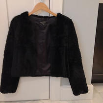 Theory Black Rabbit Fur Coat Photo