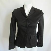 Theory Black Three Button Blazer Jacket Women's 4 Photo