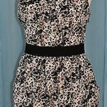 Theory Black White Pink Leopard Silk Raiku Animal Print Mini Dress 10 Us 42 Eur  Photo