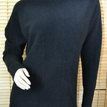 Theory Black Wool Yak Blend Fuzzy Boat Neck Dolman Sweater Size S Photo