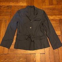 Theory Blazer Linen Tie Waist Size 10 Photo