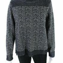 Theory Blue Na Wool Turtleneck Mock Sweater/cardigan Size L Photo