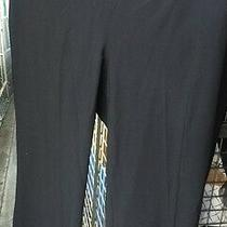 Theory Boot Leg Solid Black Dress Pants Size 4 Photo