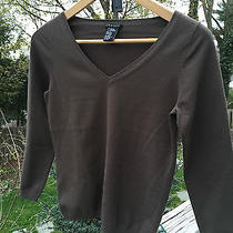Theory  Brown  Rayon Blend  Sweater  Top   Small  Euc Photo
