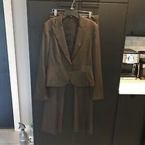 Theory Brown Suit Size 2 Pants Size 8 Jacket  Photo