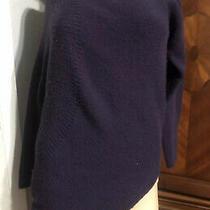 Theory Cashmere Sweater Purple Size Medium Asymmetrical Photo