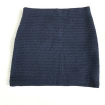 Theory Charlot Eloquence Navy Skirt Size S Wool Knit Lined Photo