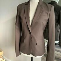 Theory  Chocolate Brown Pant Suit Set W/ Blazer Size 0 Photo