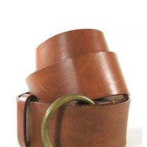 Theory Cognac Leather Belt Sz M Photo