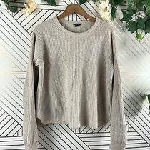 Theory Cotton Cashmere Knit Sweater Size Medium Flaw Photo