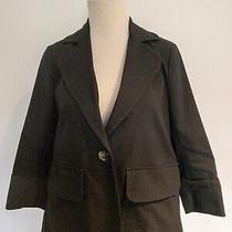 Theory Cotton Jacket Blazer 3/4 Sleeves Size S Photo
