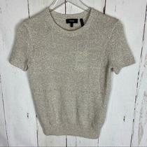Theory  Cream Knit Cashmere Linen Tee Shirt Photo