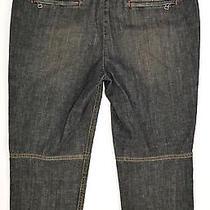 Theory Cropped Denim Industrial Mod Capri Pants Jeans