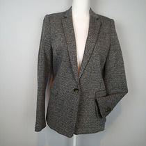 Theory Dancey K Kenmore Suit Jacket Black White Flecked Wool B 10 Blazer 425 E7 Photo