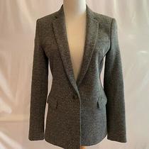 Theory Dancey K Tweed Blazer Jacket Nwt Size 4 Speckled Black White Grey 425 Photo