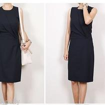 Theory Darbia Slevless Party Cocktail Work Dress Wool Stretch Dress Black 8 Nwt Photo