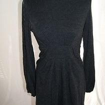 Theory Dark Gray Nina/fair Bubble Hemmed Dress Size L Photo