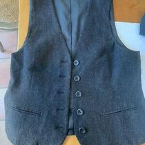 Theory Dark Grey Wool Vest Size 4 Photo