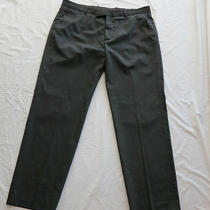 Theory Dress Pants for Men Sz40 Dark Gray Almost Charcoal No Pleats Photo
