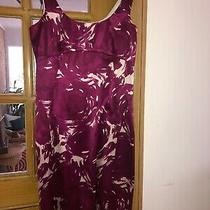 Theory Dress Size 2 Raspberry and Cream Silk Photo
