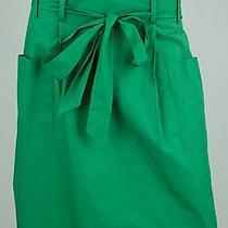 Theory - Emerald Green Tie Waist Skirt - Size 10 Photo