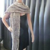 Theory Fur Shawl Scarf Women's One Size 78