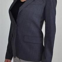 Theory Gabe B2 Charcoal Urban Fitted Blazer Size 00 Msrp 395 Photo