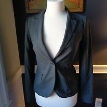 Theory Gray Blazer Jacket One Button Size 2 Photo