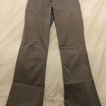Theory Gray Lightweight Cotton Blend Dress Pant Low Waist Flare Leg Size 0 Photo