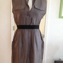 Theory Gray Silk Dress Size M With Pockets Photo