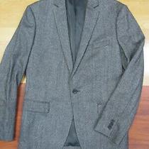 Theory Gray Wool Blend 1 Button Blazer Jacket - Size 38 R Photo
