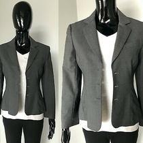 Theory Gray Wool Blend Open Front Blazer Size 6 S M Small Medium  Photo