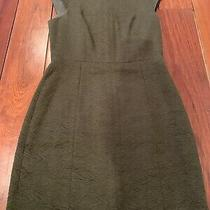Theory Green Cotton Dress Size 2 Photo