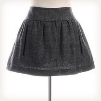 Theory Grey Tweed Mini Skirt Sz 10 Photo