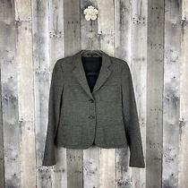 Theory Heather Black and Grey Three Pocket Knit Blazer Size 4 Photo