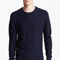 Theory Henrim Canon Crew Neck Knit Sweater Soft Merino Wool Navy Blue Xl Photo