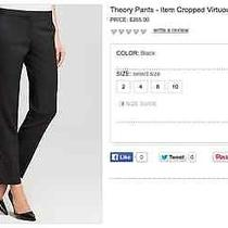Theory Item Cropped Pants in Black Size 2 Photo