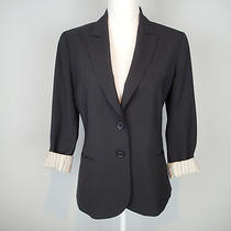 Theory Jacket 8 Black Nichelle Wool Bl Blazer Women's Career W1 Photo