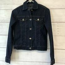 Theory Jean Jacket Denim Womens Size P Small Blue Cotton T-530 Photo