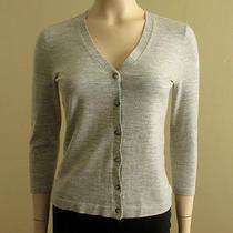 Theory Jilma Sweater Evian Stretch Cold Heather S 245 5548j Photo