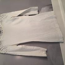 Theory Lace Applique Henley in White Photo