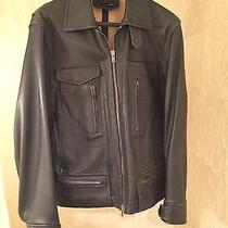 Theory Leather Motorcycle Jacket - Men's -  L Photo