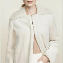 Theory Luxe Faux Rabbit Linen Sand Jacket Size Small Brand New With Tags Photo