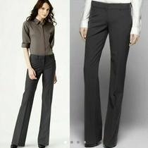 Theory  Max  Women's Pants Size 4 Charcoal Gray Stretch Wool Flare Trouser Pants Photo