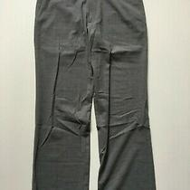 Theory Men's 34x30 Gray Straight Leg Stretch Wool Dress Pants Trousers Photo