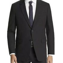 Theory Men's 42r Solid Black 2-Button Sport Coat Suit Jacket Blazer Photo