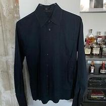 Theory Mens Black Button Down French Cuff Size Small Photo