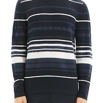 Theory Men Sweater Blue Size Large L Crewneck Cashmere Stripe Pullover 365 138 Photo